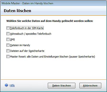 software handy löschen
